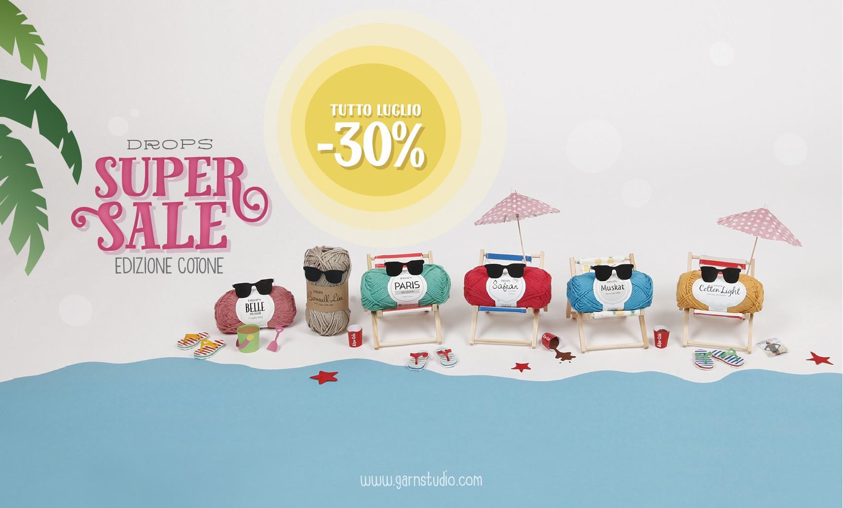 30% di sconto sui filati in lana
