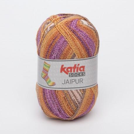 Katia Jaipur Socks 50 Malva arancione